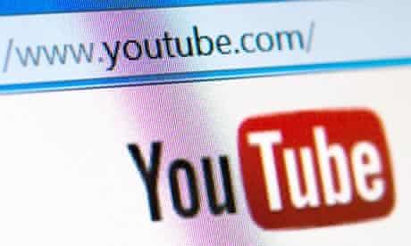 Youtube homepage screen address bar
