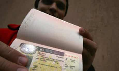 Bulgarian shows UK visa