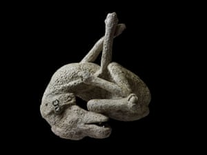 Pompeii at the BM: Plaster cast of a dog