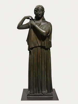 Pompeii at the BM: Bronze statue of a woman