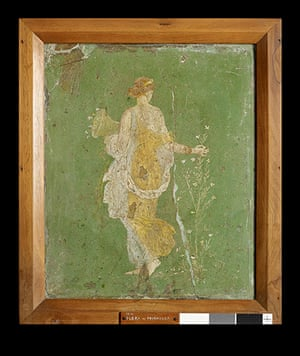Pompeii at the BM: Flora wall painting