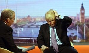 Boris Johnson and Eddie Mair on Andrew Marr show