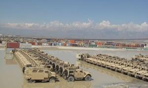 American MRAP vehicles in Afghanistan