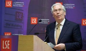 Mervyn King LSE debate