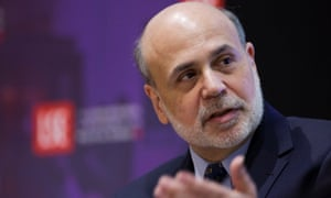 US Federal Reserve Chairman Ben Bernanke at the London School of Economics earlier this evening. Photo: AFP/Getty.