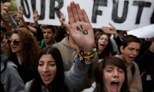 An anti-bailout protest in Cyprus