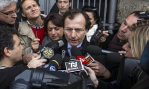 The Italian lawyer of Meredith Kercher's family, Francesco Maresca, delivers a statement to journalists after the decision of Italy's supreme Court  overturned the acquittal of Amanda Knox and Raffaele Sollecito for the 2007 murder of Meredith Kercher in Perugia, Italy. Read more on the story.