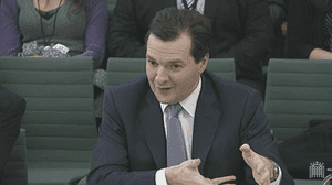 Chancellor George Osborne, at the Treasury Select Committee
