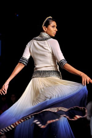 Give us a twirl: a model shows a creation by designer Pallavi Jaipur on the fifth day of the Lakme Fashion Week in Mumbai, India.