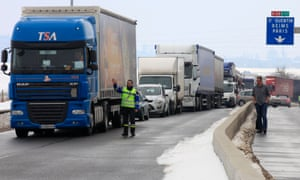 A French lorry driver