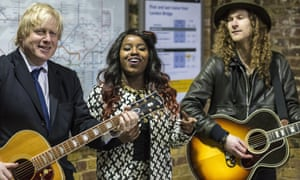 Have-a-go Mayor Boris Johnson strums along with  Misha B at London bridge tube station this morning to launch a competition giving talented young musicians the opportunity to win a year long busking licence on London. And the verdict? All in a good cause but don't give up the day job Boris.