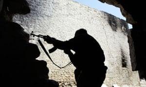 Free Syrian Army fighters in Aleppo, Syria - 25 Mar 2013