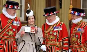 Olympic cyclist Victoria Pendleton was also honoured at the Investiture Ceremony receiving a CBE (Commander of the British Empire) award.