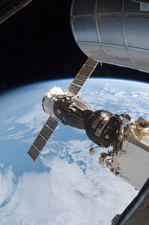 A month in Space: Soyuz 33 (TMA-07M) docked to the Rassvet Mini-Research Module 1 (MRM1)