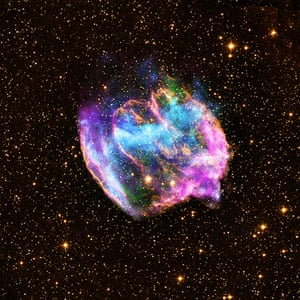 A month in Space: A supernova remnant that is located about 26,000 light years from Earth.