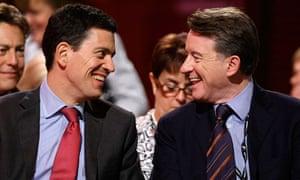 David Miliband and Peter Mandelson