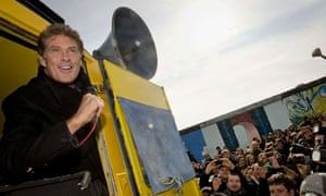 Actor David Hasselhoff fights to protect the Berlin Wall