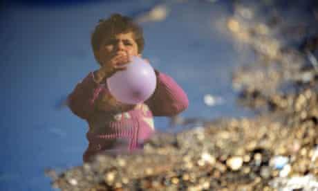 A Syrian internally displaced child