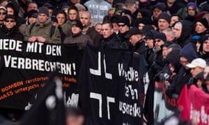 Neo-Nazis commemorate the 1945 Allied bombing of Magdeburg on January 12, 2013.