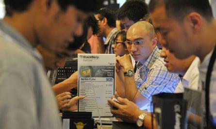 BlackBerry Z10 launch in Jakarta, Indonesia