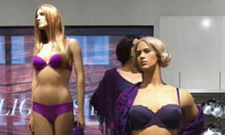 True to life: the mannequins at Åhléns department store in Sweden.