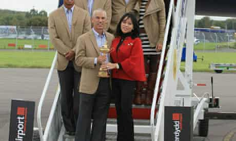 Cardiff airport Ryder cup team