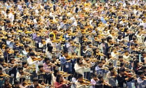 Imagine the noise! Children play the violin during the opening concert of the 16th Suzuki Method World Convention in Japan. Around 2,000 Japanese and foreign children displayed their skills during the opening concert.