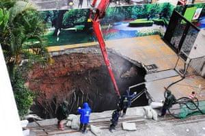 Sinkhole: Sinkhole Shenzhen, China, 2013