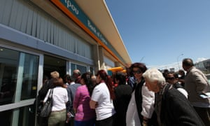 Large queues formed outside the banks in Cyprus this morning as they reopened after nearly two weeks. Strict controls have been imposed with a withdrawal limit set at 300 euros per person. More on the story.