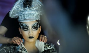 Eye-opening fashion during the MGPIN collection show on the fourth day of Mercedes-Benz China Fashion Week in Beijing, China.