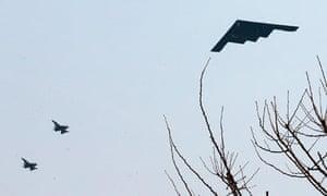 US B-2 stealth bomber