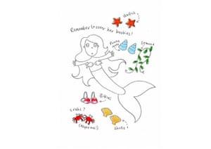How to draw a mermaid: Mermaid seven