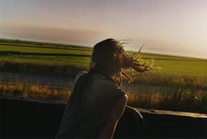Train Riders: Sunset portrait