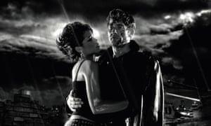 Dawson in Sin City with Clive Owen (2005).