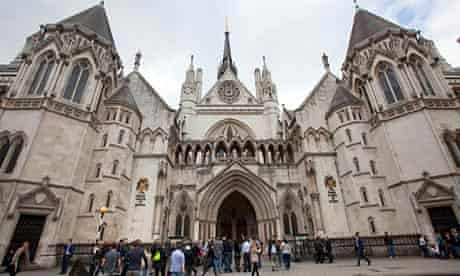 The Royal Courts of Justice, which houses the court of appeal of England and Wales