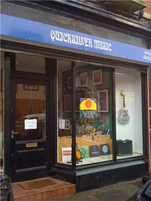 record shops: Quicksilver music