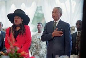 Mandela Obit Gallery: Nelson Mandela and Daughter Zenani at Inauguration Ceremony