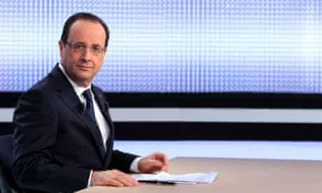 François Hollande appearing on France 2