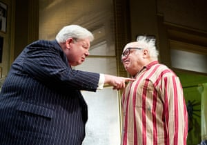 Richard Griffiths obit: 2012: Richard Griffiths and Danny Devito in The Sunshine Boys at Savoy Thea