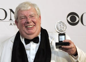 Richard Griffiths obit: 2006: Richard Griffiths with his Tony Awards for Best Performance by a Lead