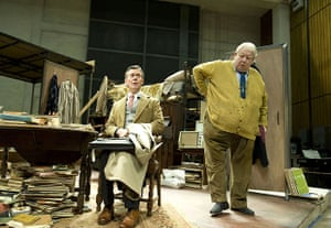 Richard Griffiths obit: 2009: Alex Jennings and Richard Griffiths 'The Habit of Art' play at the Ly