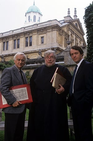 Richard Griffiths obit: 1993: John Thaw, Richard Griffiths and Kevin Whately in 'Morse'