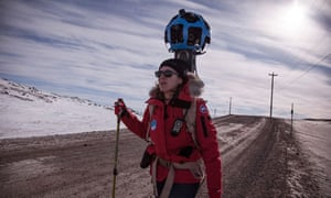 Google Street View's Karin Tuxen-Bettman crosses the Arctic tundra in Iqaluit