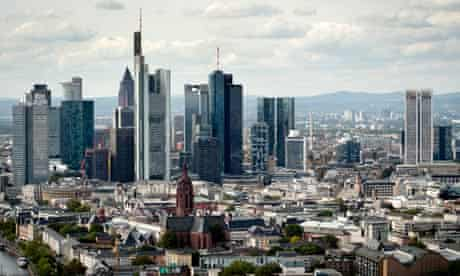 Economic powerhouse … Frankfurt's financial district, where the ECB's HQ is located.