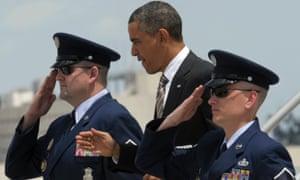 President Obama arrives in Miami.