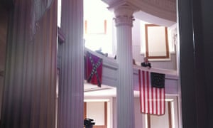 A Confederate flag is seen on display at the old Capitol in Raleigh, North Carolina