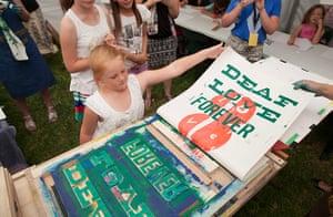 Adelaide Festival Day 3: Children create their own screenprints