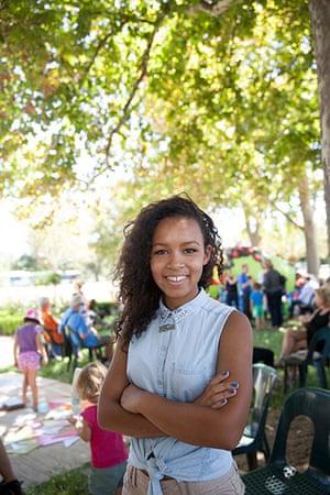 Adelaide Festival Day 3: Bella Safari, 15, from Adelaide enjoys the kids' day at the festival
