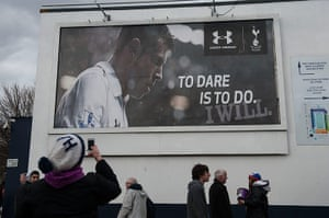 Tottenham v Arsenal: Bale poster