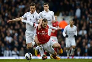 Tottenham v Arsenal: Parker fouls Wilshere